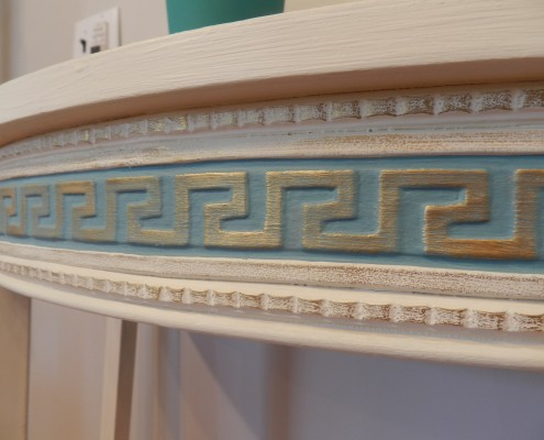Greek Key furniture appliqué