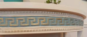 Greek Key Furniture Applique with gilding