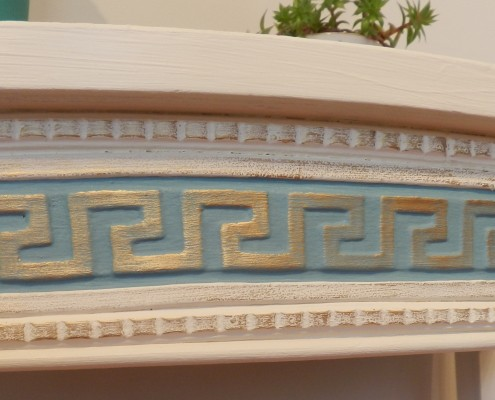 Greek Key Furniture Applique with gilding