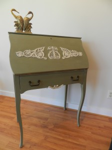 simple elegant secretary desk