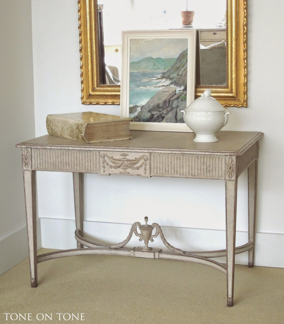 pair of gustavian console-2