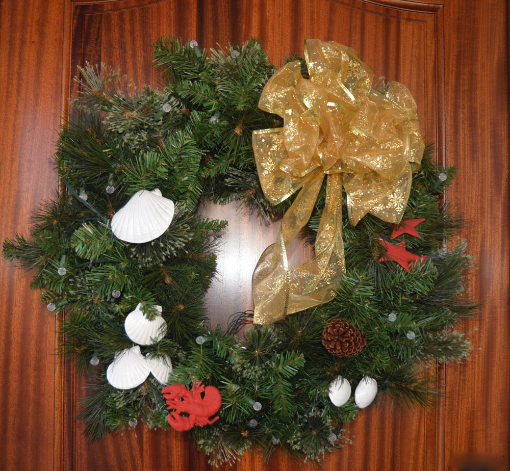 Simple holiday wreath Simple christmas wreaths