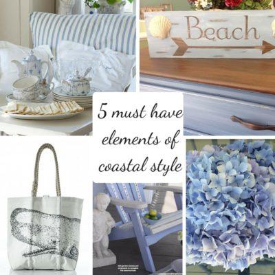 coastal style 5 elements