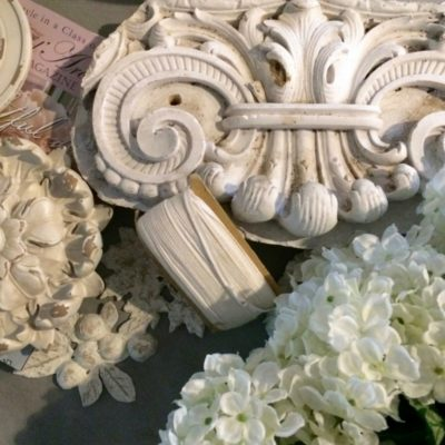 Historically Accurate Antique Plaster Pediment